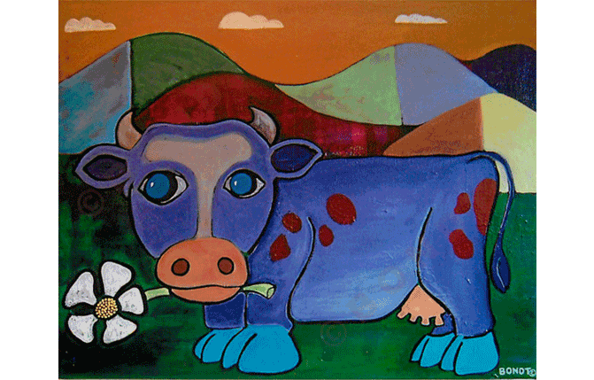 Purple Cow - Artwork by David Bondt